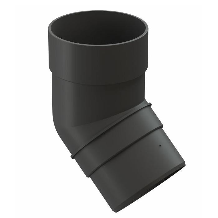 Колено трубы Docke Premium пластиковое d85 мм 45° графитовый серый RAL 7024 профнастил с8 1 2х2 м 0 45 мм графитовый серый ral 7024