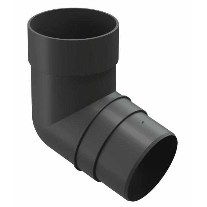 Колено трубы Docke Premium пластиковое d85 мм 72° графитовый серый RAL 7024