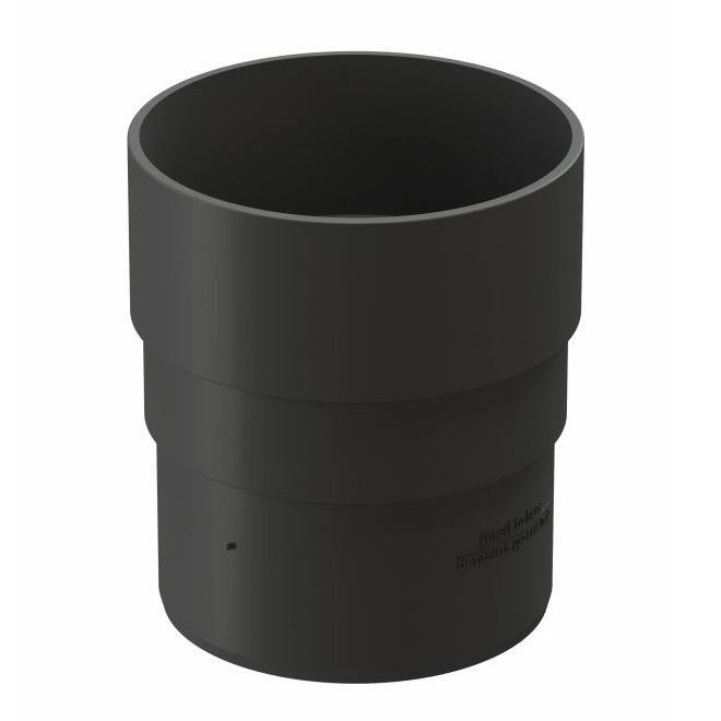 цены Муфта водосточной трубы Docke Premium пластиковая d85 мм графитовый серый RAL 7024
