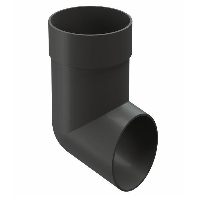 Колено стока Docke Premium пластиковый слив трубы d85 мм графитовый серый RAL 7024 профнастил с8 1 2х2 м 0 45 мм графитовый серый ral 7024
