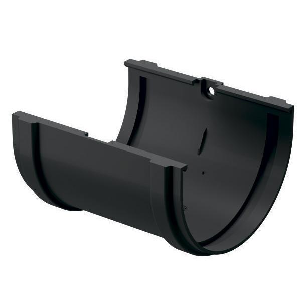 Соединение желоба Docke Premium пластиковое d120 мм графитовый серый RAL 7024 заглушка желоба docke premium пластиковая d120 мм графитовый серый ral 7024