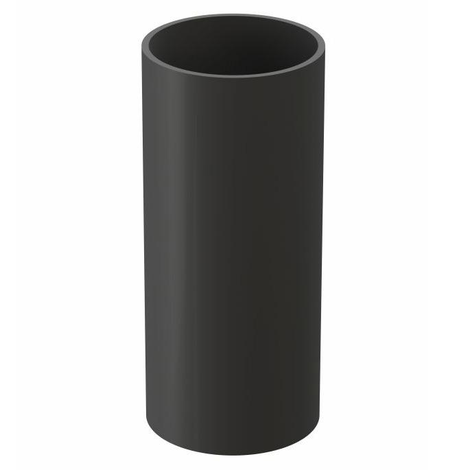 Труба водосточная Docke Premium пластиковая d85 мм 1 м графитовый серый RAL 7024 заглушка желоба docke premium пластиковая d120 мм графитовый серый ral 7024