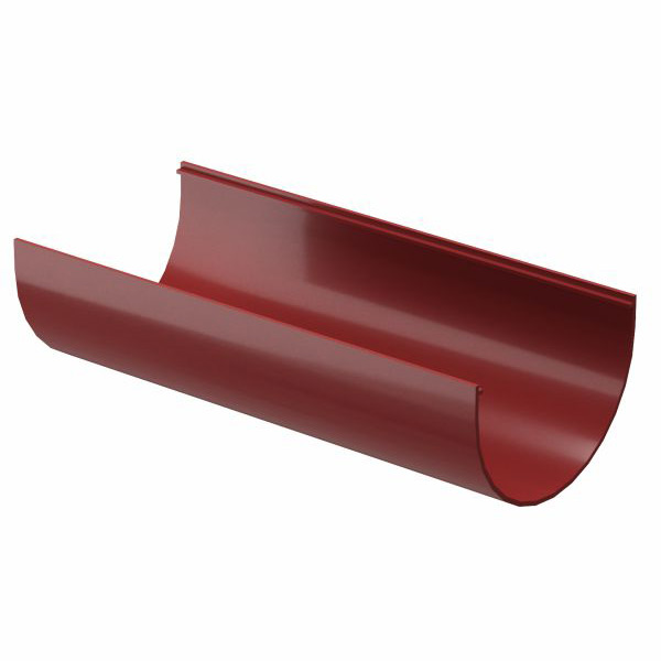 Желоб водосточный Docke Premium пластиковый d120 мм 3 м гранат RR 29