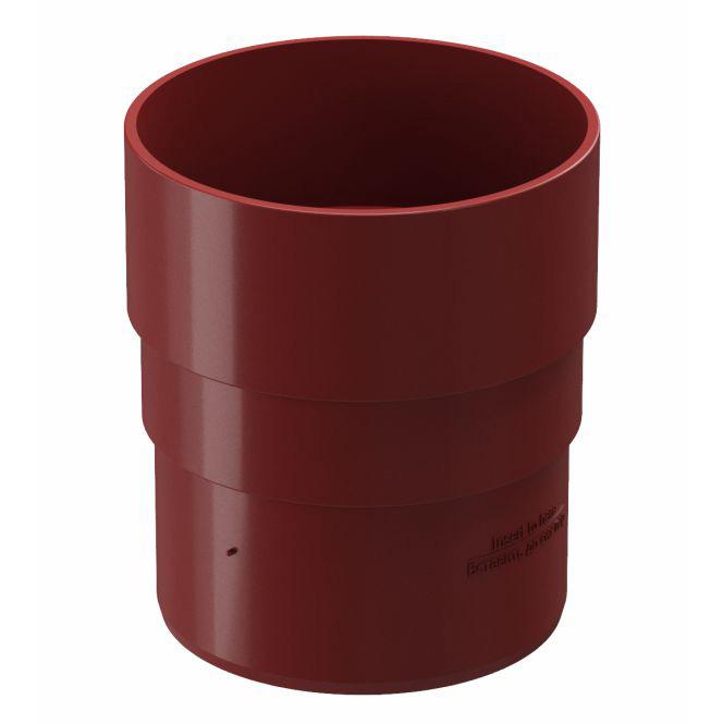 Муфта водосточной трубы Docke Premium пластиковая d85 мм гранат RR 29