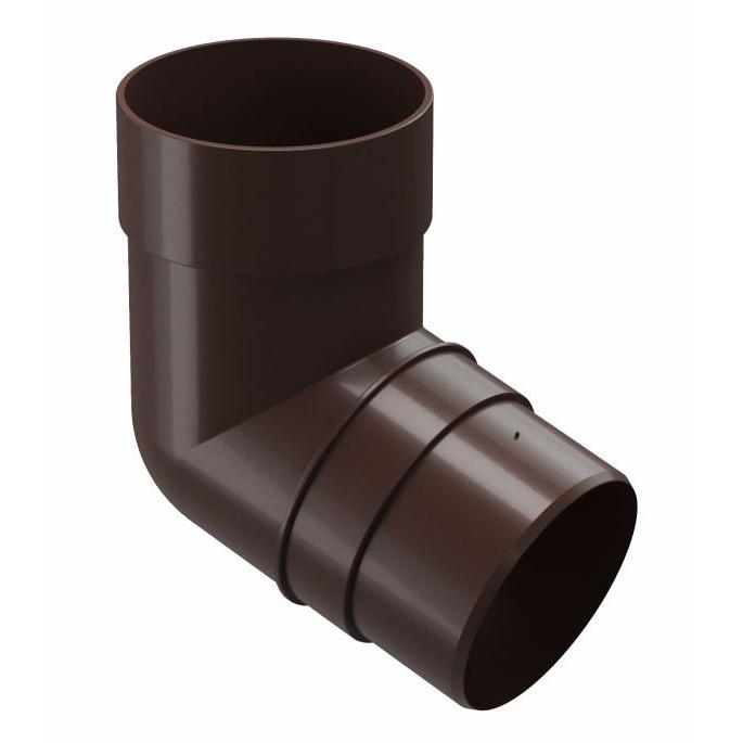 цена на Колено трубы Docke Premium пластиковое d85 мм 72° горький шоколад RAL 8019