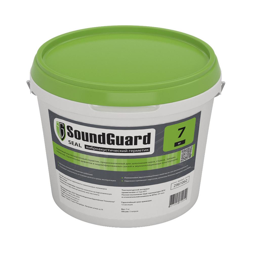 Герметик акриловый звукоизоляционный SoundGuard Seal белый 7 кг