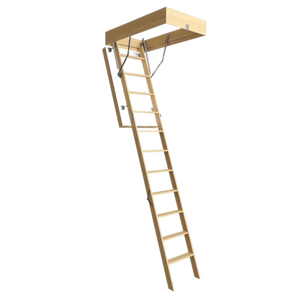 Лестница чердачная Docke Lux деревянная 300х70х120 см