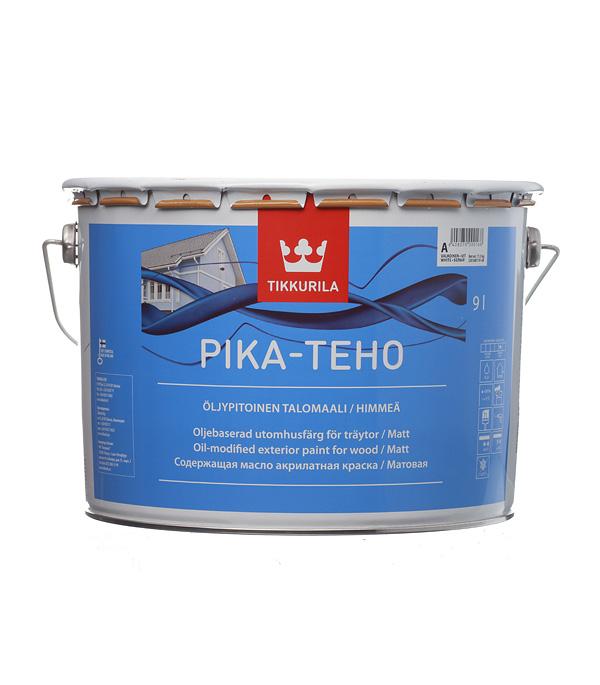 купить Краска водно-дисперсионная для деревянных фасадов Tikkurila Pika-Teho белая основа А 9 л онлайн
