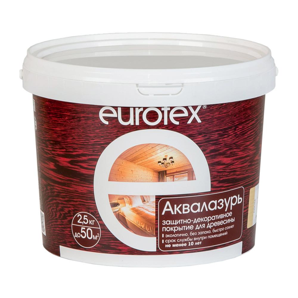 Лак антисептик акриловый Eurotex Аквалазурь ваниль 2,5 л фото