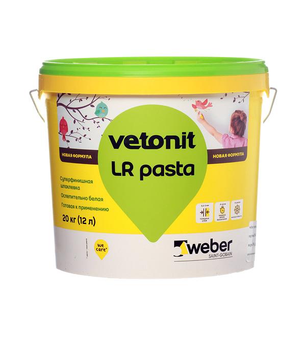 Шпатлевка финишная Weber.vetonit ЛР Паста 12 л/20 кг фото