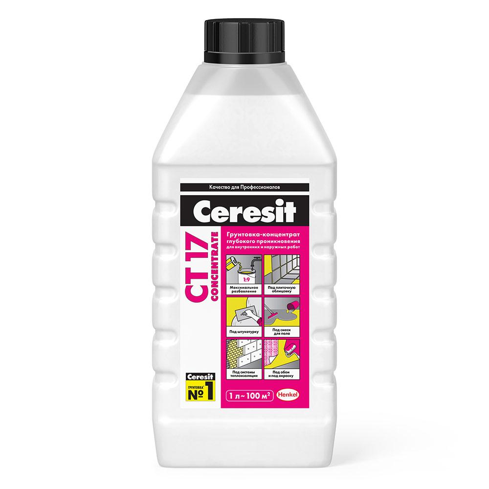 цена на Грунт Ceresit CT17 концентрат 1 л