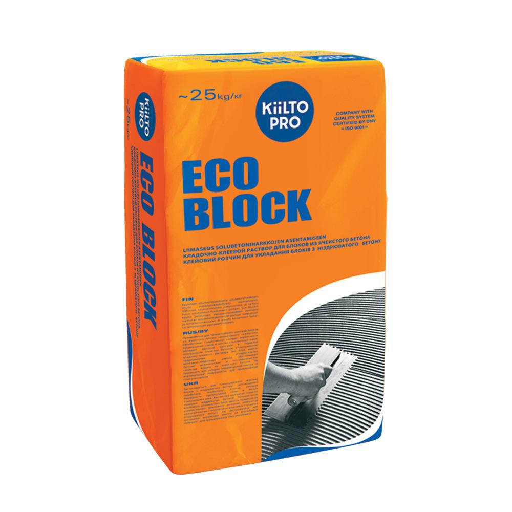 Клей для газобетона Kiilto Eco Block 25 кг