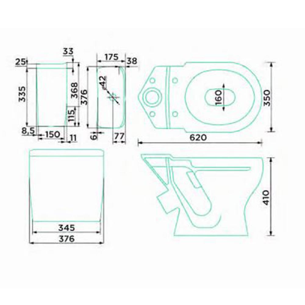 Унитаз-компакт GESSO Home de luxe Проксима с косым выпуском с сиденьем пластик.