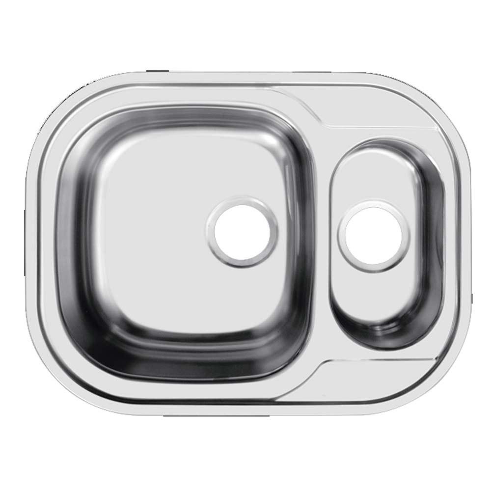 Мойка для кухни UKINOX Галант 628х488х190/130 мм врезная пряугольная с двумя чашами сталь
