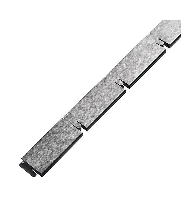 Элемент решетки серый металлик «папа» 10х40х600 мм Грильято ячейка 100х100 мм