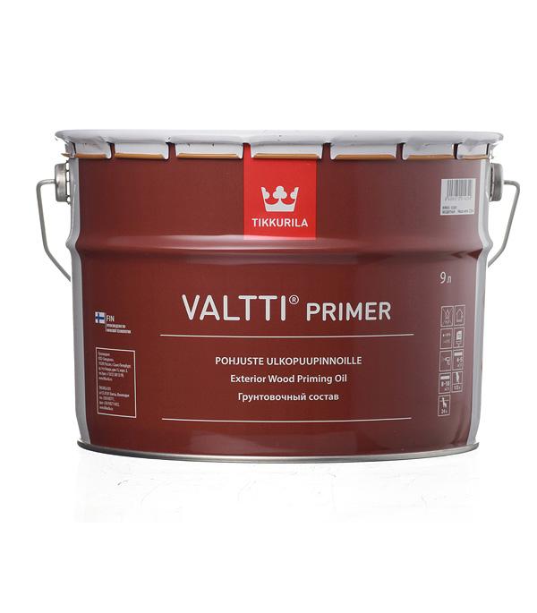 цена на Антисептик Tikkurila Valtti Primer (Pohjuste) грунтовочный для дерева бесцветный 9 л