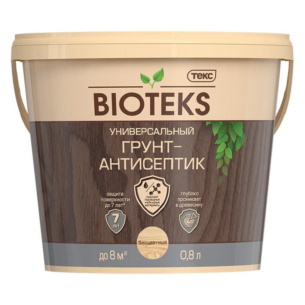 Антисептик Bioteks грунтовочный для дерева бесцветный 0,8 л
