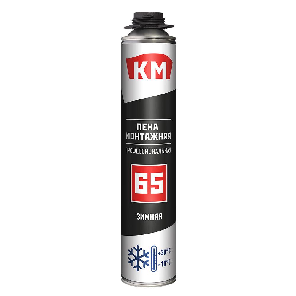 Пена монтажная КМ 65 профессиональная зимняя 860 мл
