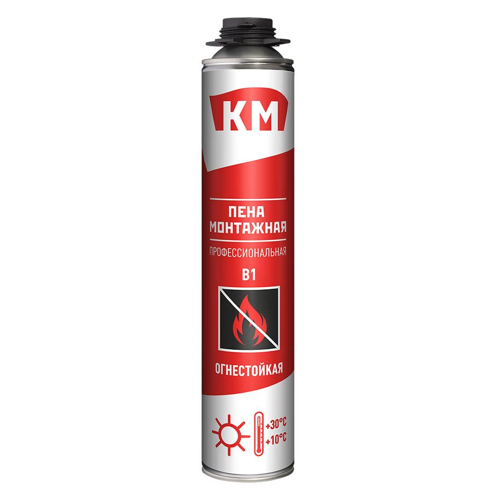 Пена монтажная КМ B1 профессиональная огнестойкая 750 мл