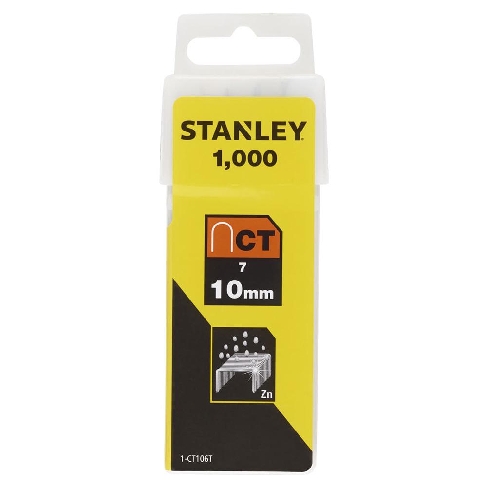 Скобы для степлера Stanley (1-CT106T) тип СТ 100 10 мм для кабеля (1000 шт.) скобы для степлера stanley 1 tra209t тип 53 14 мм 1000 шт