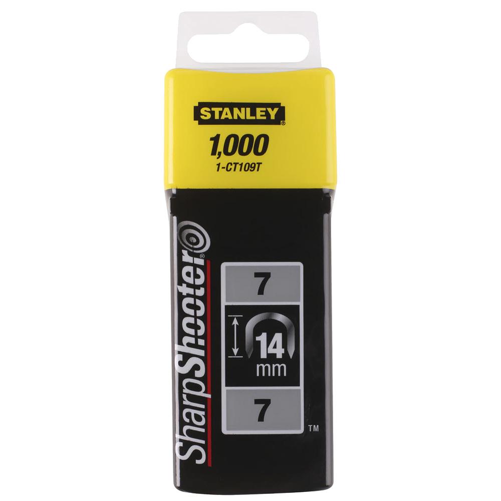 Скобы для степлера Stanley (1-CT109T) тип СТ 100 14 мм для кабеля (1000 шт.) скобы для степлера stanley 1 tra209t тип 53 14 мм 1000 шт