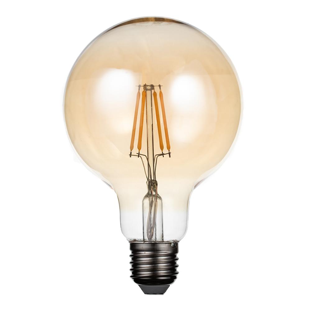 Лампа светодиодная REV VINTAGE 5 Вт E27 филаментная шар G95 2700 К теплый свет 230 В прозрачная лампочка uniel vintage led g95 4w golden e27 теплый свет 4 вт светодиодная