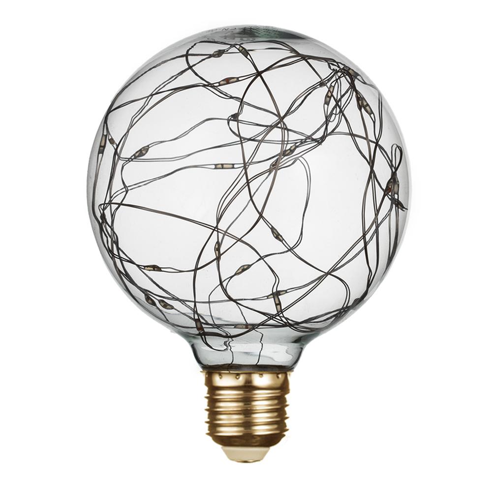 Лампа светодиодная REV VINTAGE 2 Вт E27 шар G95 2700 К теплый свет 230 В прозрачная декоративная RGB лампочка uniel vintage led g95 4w golden e27 теплый свет 4 вт светодиодная