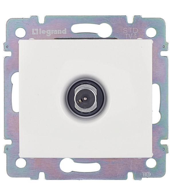 Розетка телевизионная Legrand Valena 694291 проходная скрытая установка белая