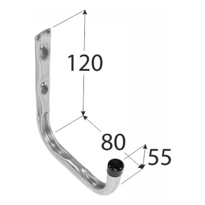 Крюк одиночный DMX тип U 120х80х55 мм оцинкованный