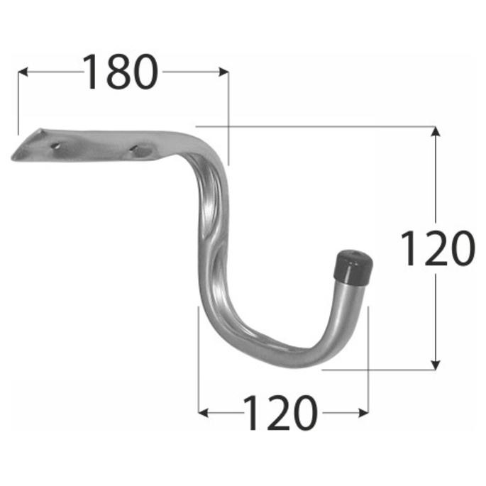 Крюк для велосипеда DMX 120х180х120 мм оцинкованный