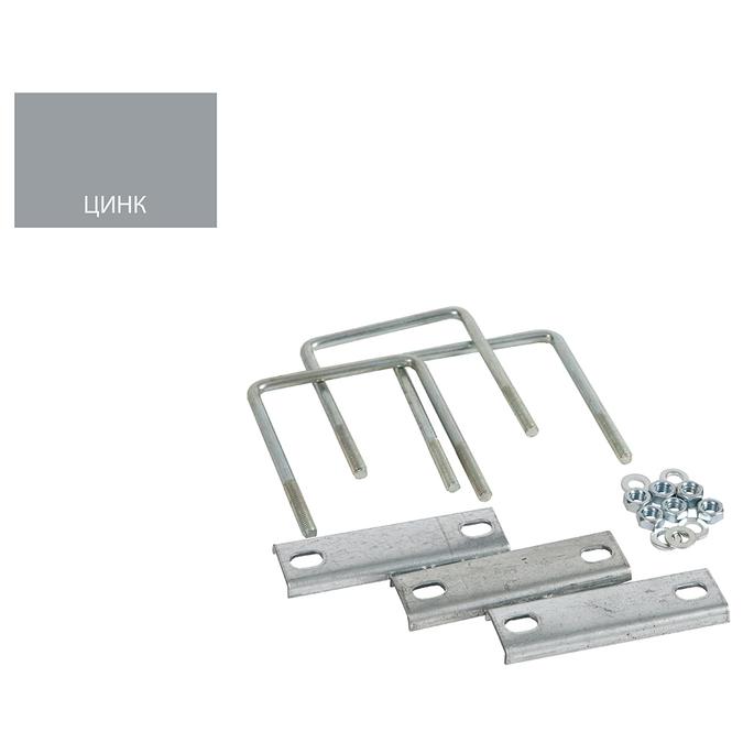 Крепление сетки/секции заборной к столбам 80х80 мм оцинкованное (3 шт.)