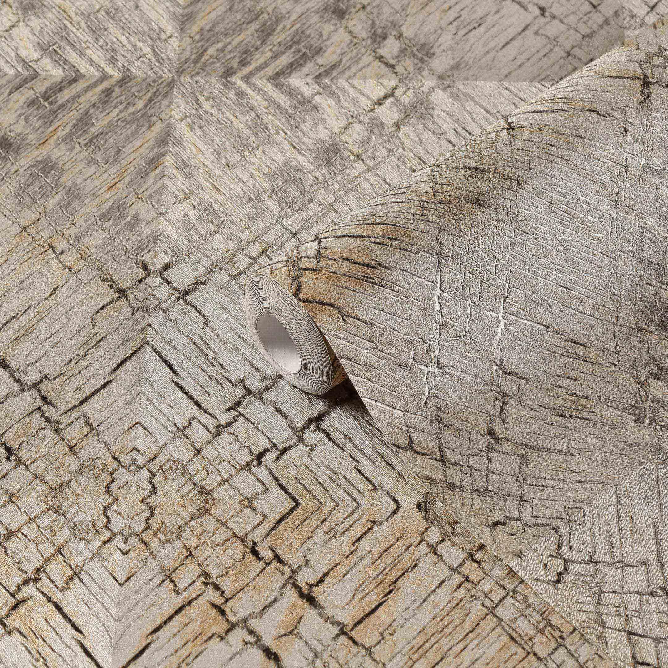 Обои виниловые на флизелиновой основе МИР Stumpy 45-253-01 (1,06х10 м)