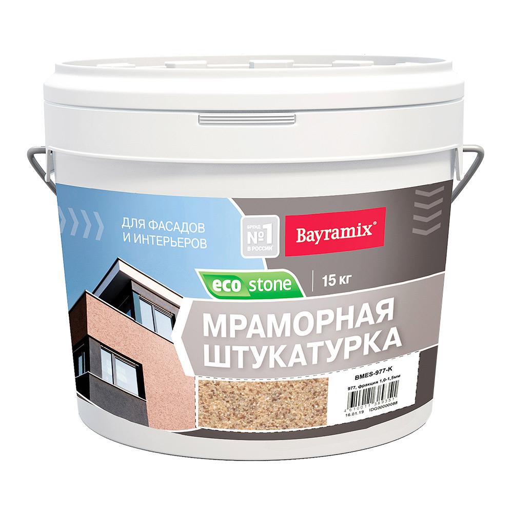 Мраморная штукатурка EcoStone Bayramix, цвет 977  15 кг
