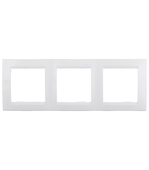 Рамка трехместная Simon 15 белая simon