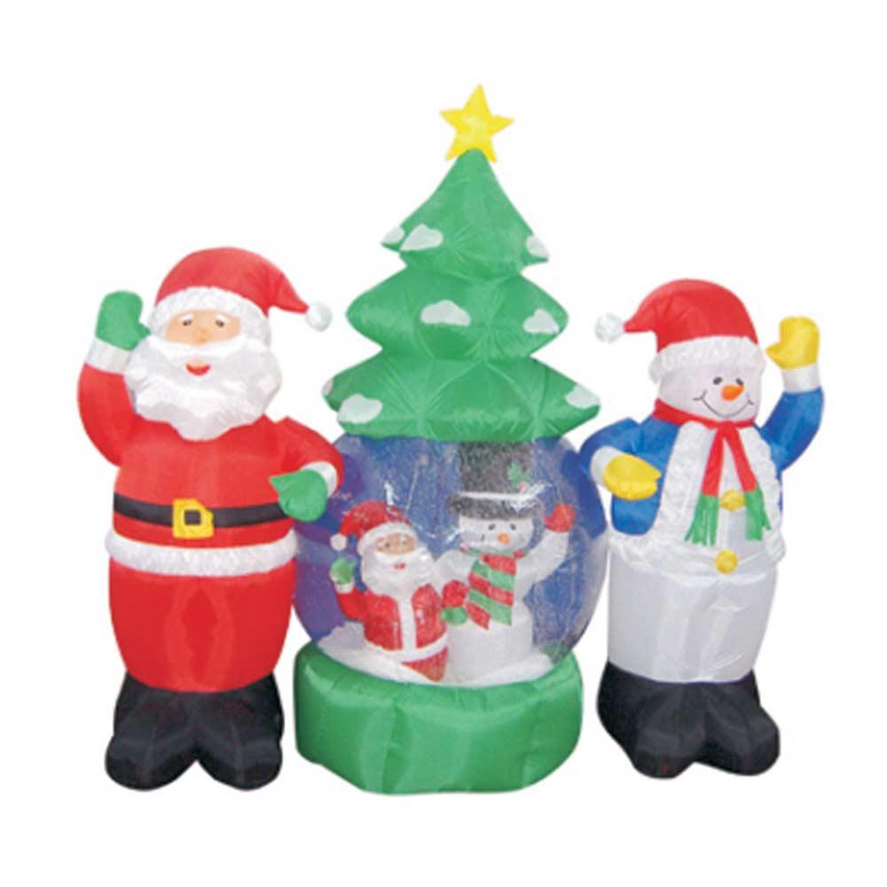 Украшение надувное Дед Мороз и Снеговик
