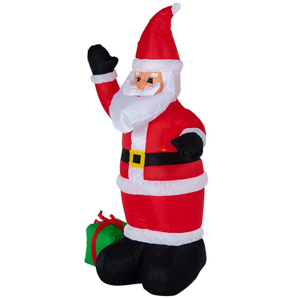 Украшение надувное Дед мороз с подарком