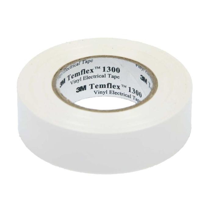 Изолента 3M Temflex 1300 ПВХ белая 15 мм 10 м