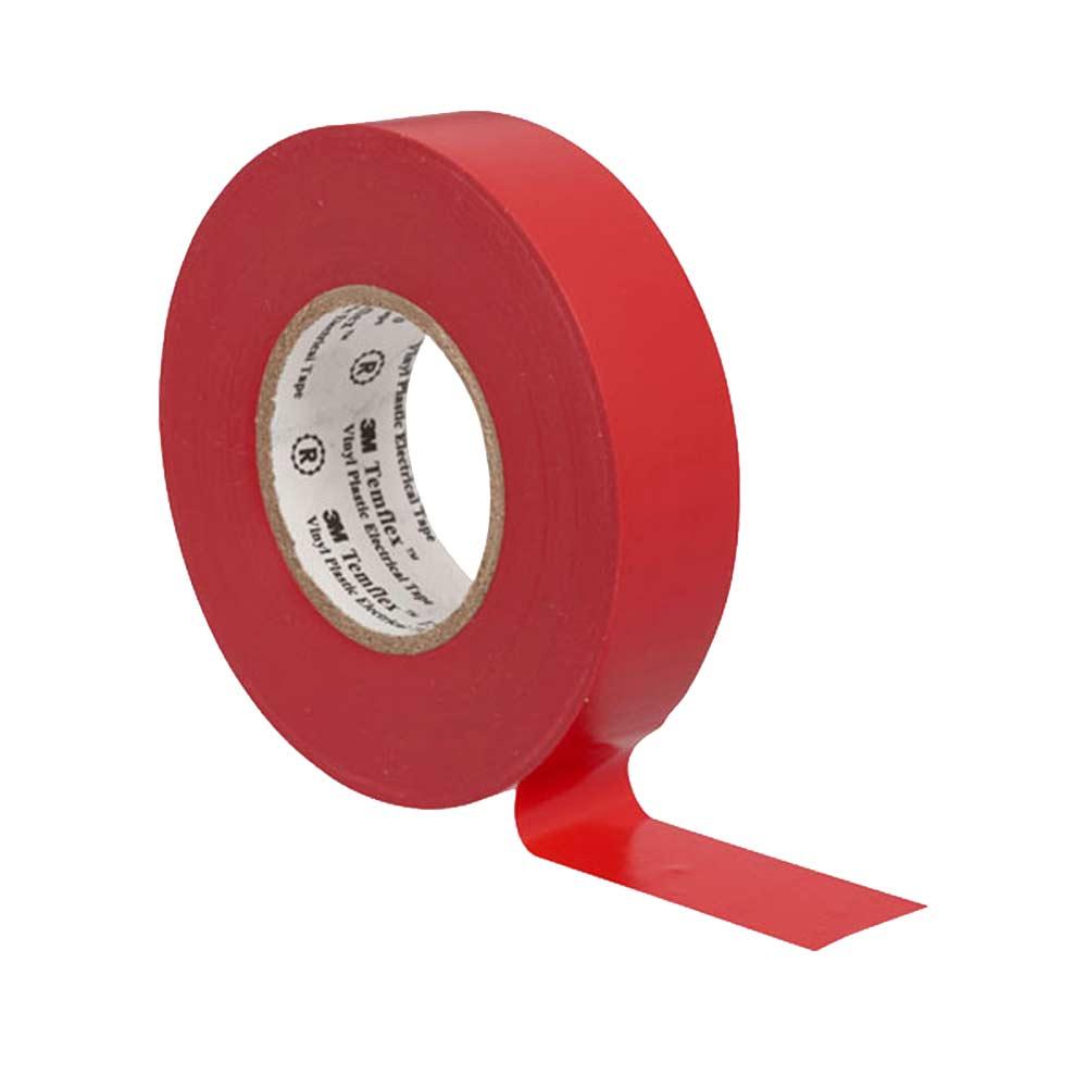 Изолента 3M Temflex 1300 ПВХ красная 19 мм 20 м