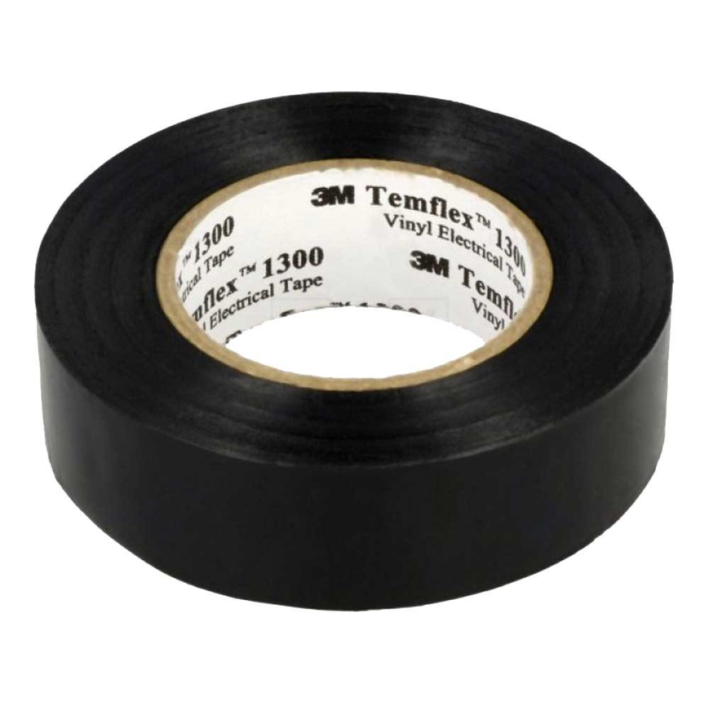 Изолента 3M Temflex 1300 ПВХ черная 19 мм 20 м