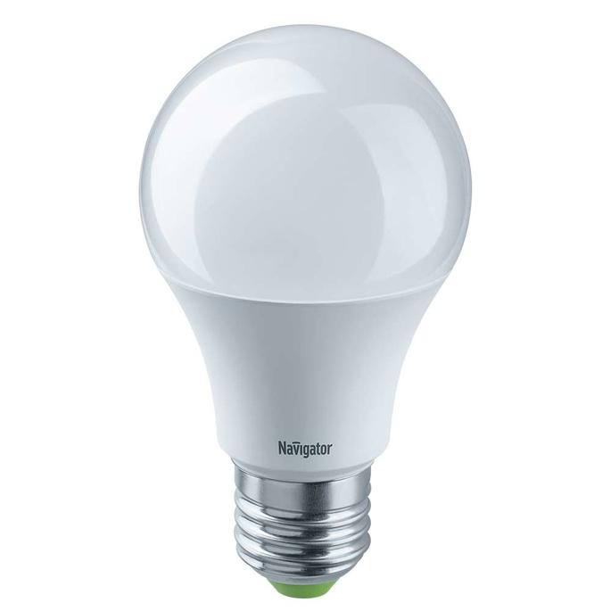 Лампа светодиодная Navigator 10 Вт E27 груша A60 4000 К дневной свет 24-48 В матовая