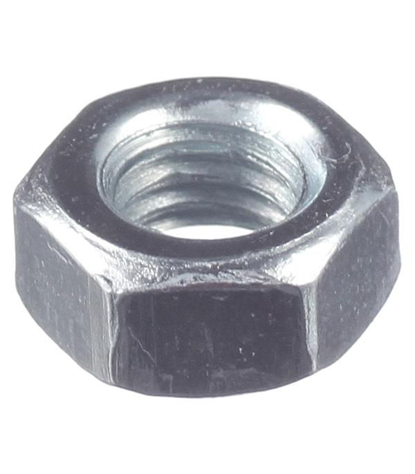 Гайки оцинкованные М6 DIN 934 (200 шт) канатный зажим креп комп din 741 м6 200шт зк6ф