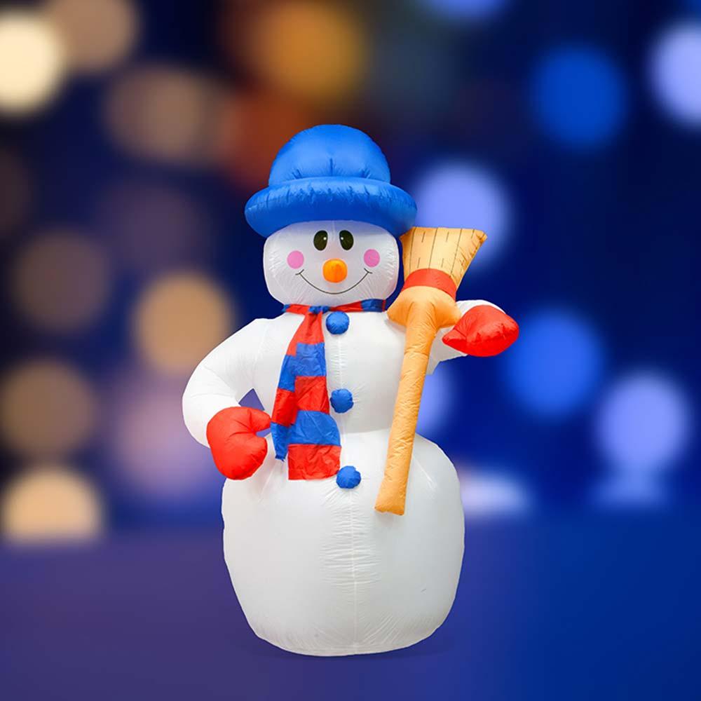 Украшение надувное Снеговик с метлой 180