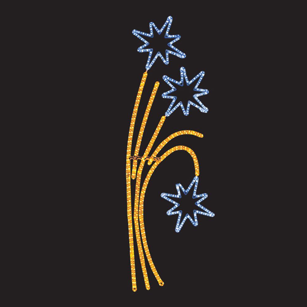 Украшение светодиодное фигура Neon-Night Звездный фейерверк свечение желто-белое 88 см уличное (501-336)