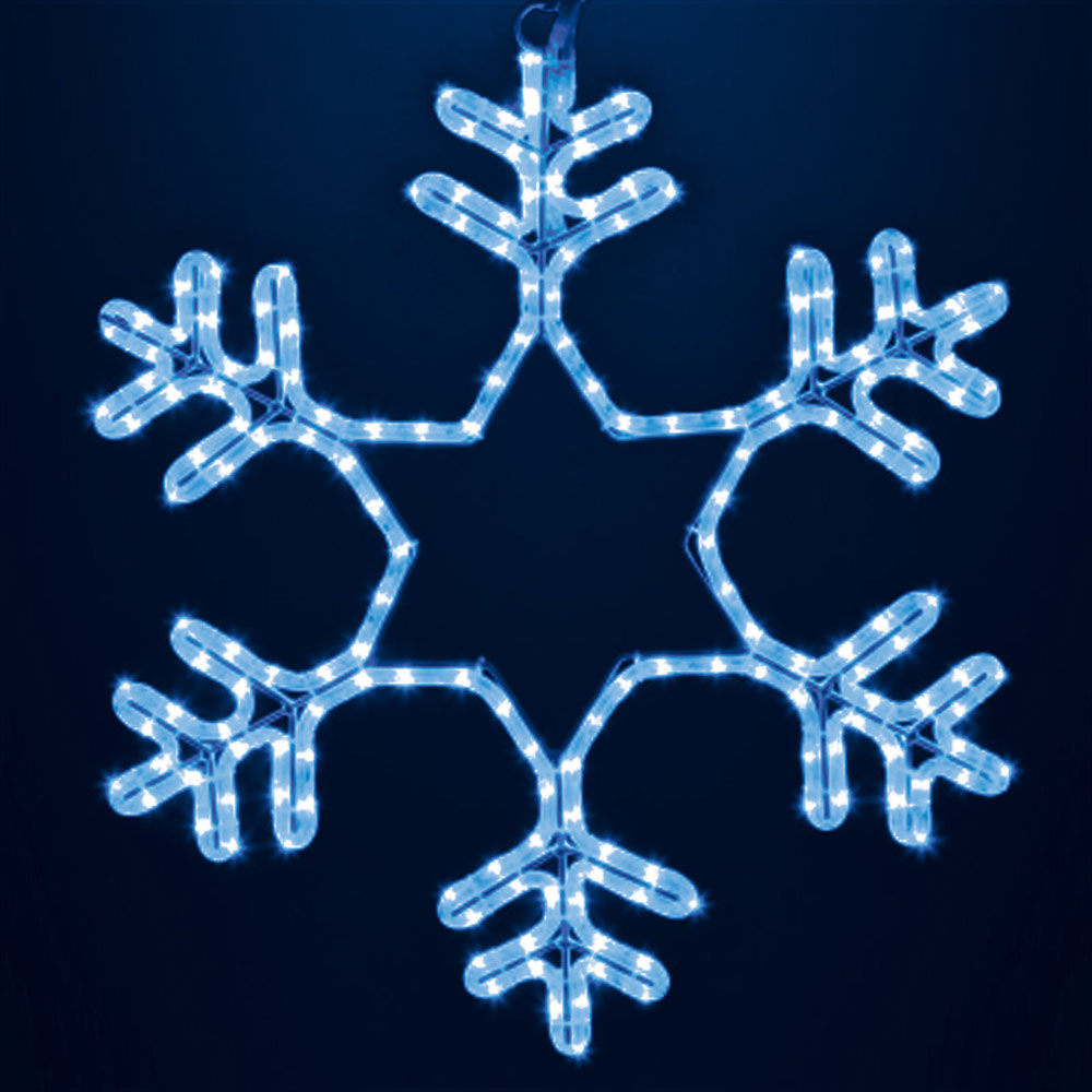 Украшение светодиодное фигура Neon-Night Снежинка свечение синее 55 см уличное (501-335)