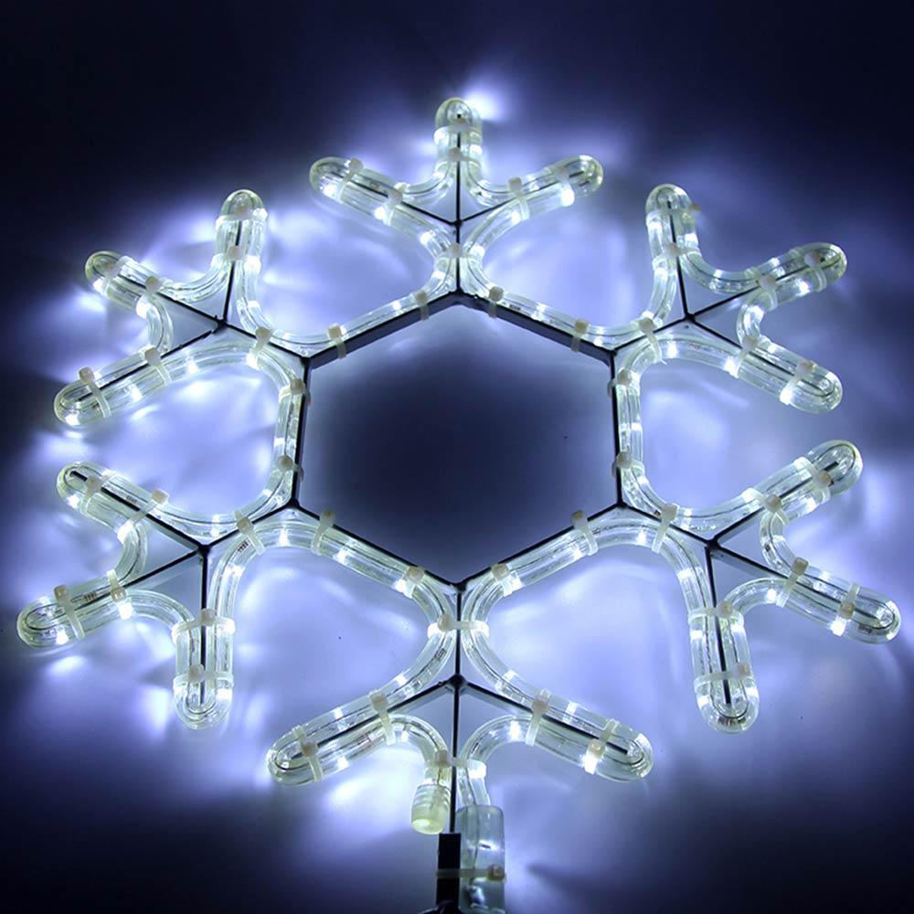 Украшение светодиодное фигура Neon-Night Снежинка свечение белое 45 см уличное (501-212-1)