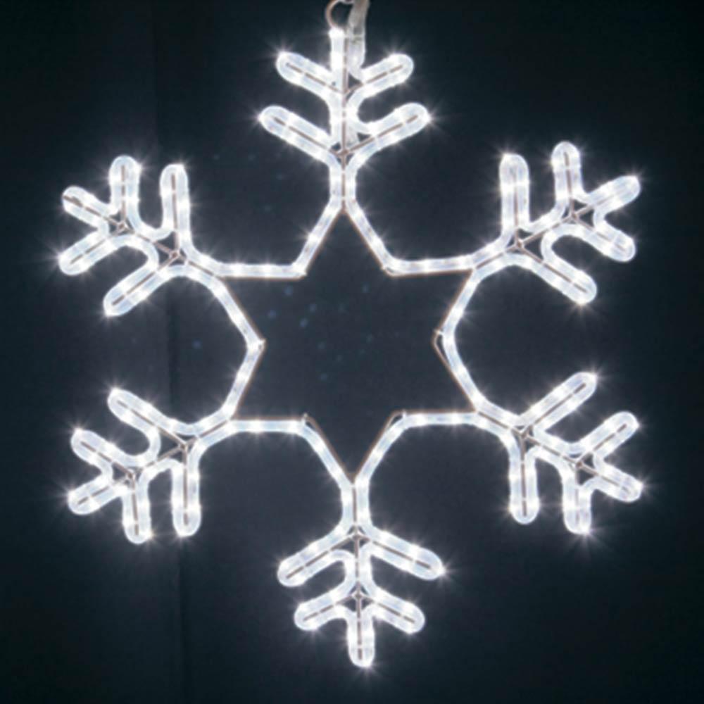 Украшение светодиодное фигура Neon-Night Снежинка свечение белое 55 см уличное (501-337)