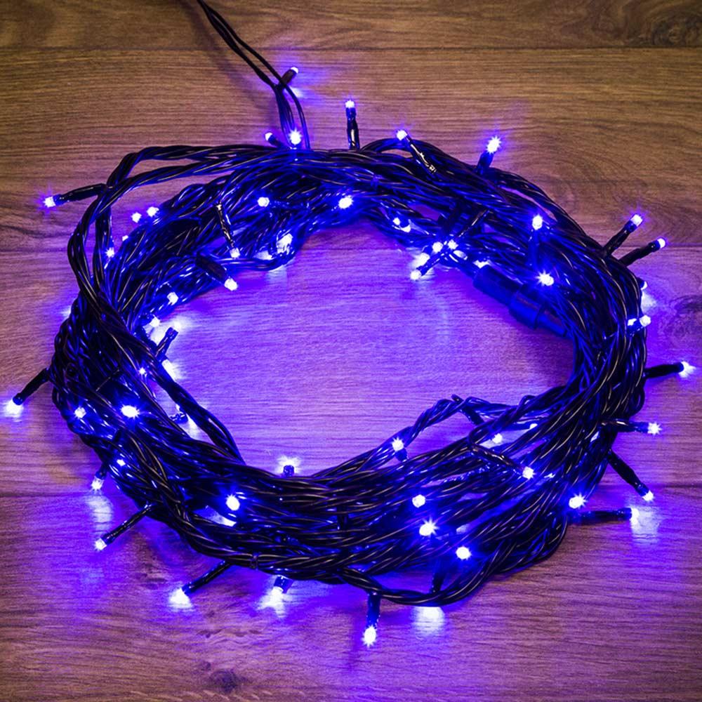 Фото - Гирлянда светодиодная Neon-Night Твинкл Лайт 100 LED свечение синее 10 м уличная (303-133) гирлянда neon night твинкл лайт 100 led 1000 см 100 ламп синий черный провод