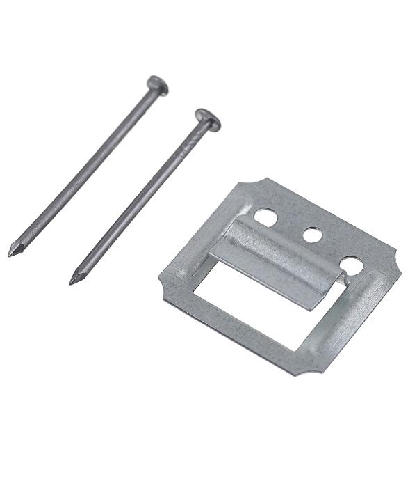 Крепеж кляймер №3 с гвоздями для вагонки (100 шт)