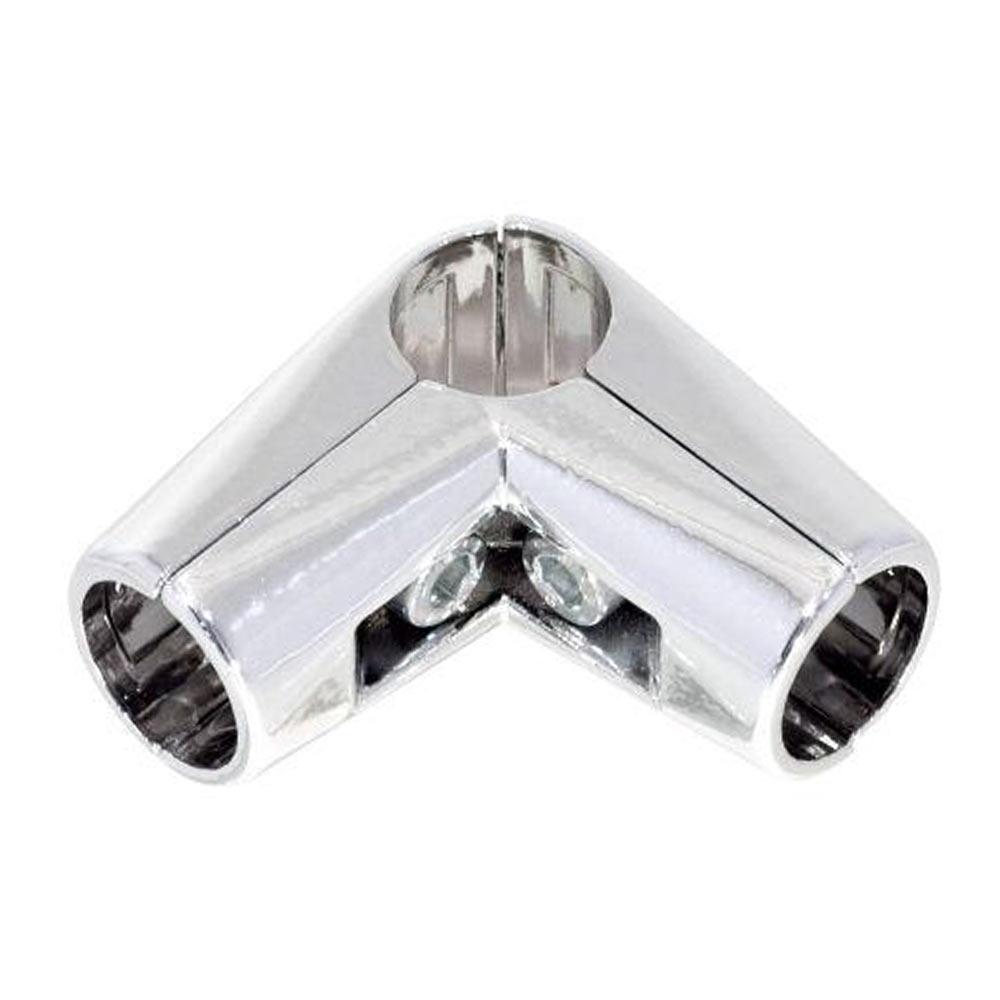 Соединитель угловой для трех труб к системе Joker d25 мм усиленный хром держатель краб для двух труб d25 мм цвет хром