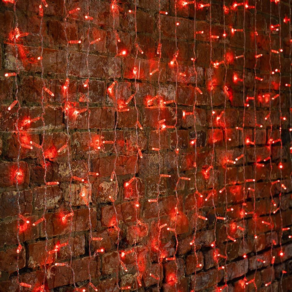 Гирлянда светодиодная Neon-Night Дождь 448 LED свечение красное 2х3 м уличная (235-152-6)